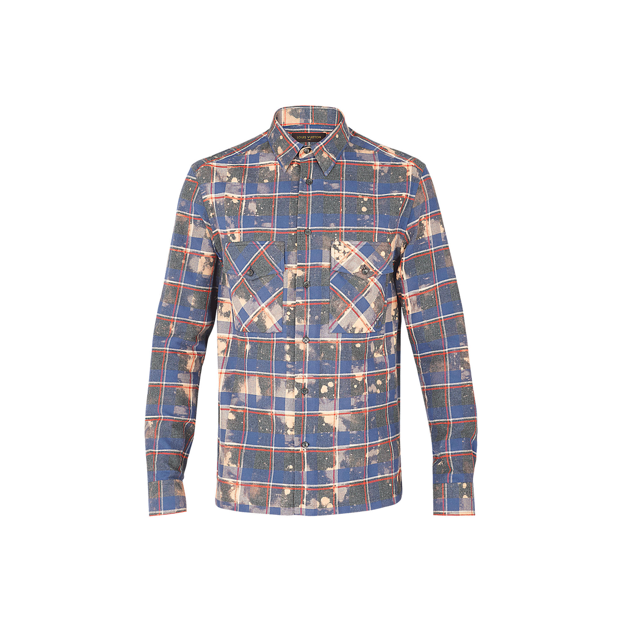 Louis Vuitton Uomo Camicia a quadri decolorata