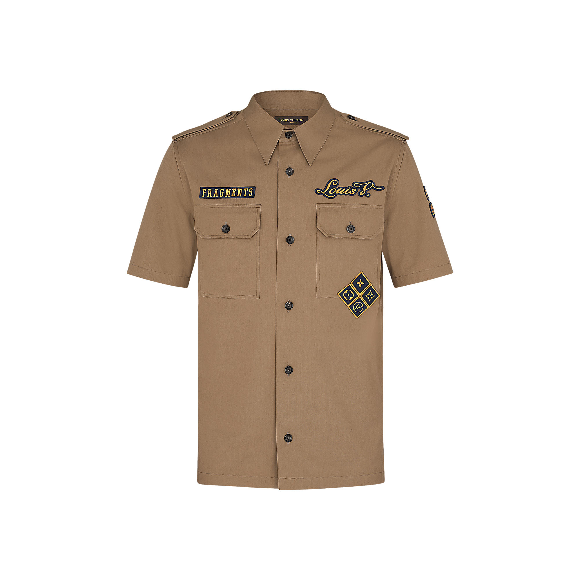 Louis Vuitton Uomo CAMICIA BOY SCOUT FRAGMENT