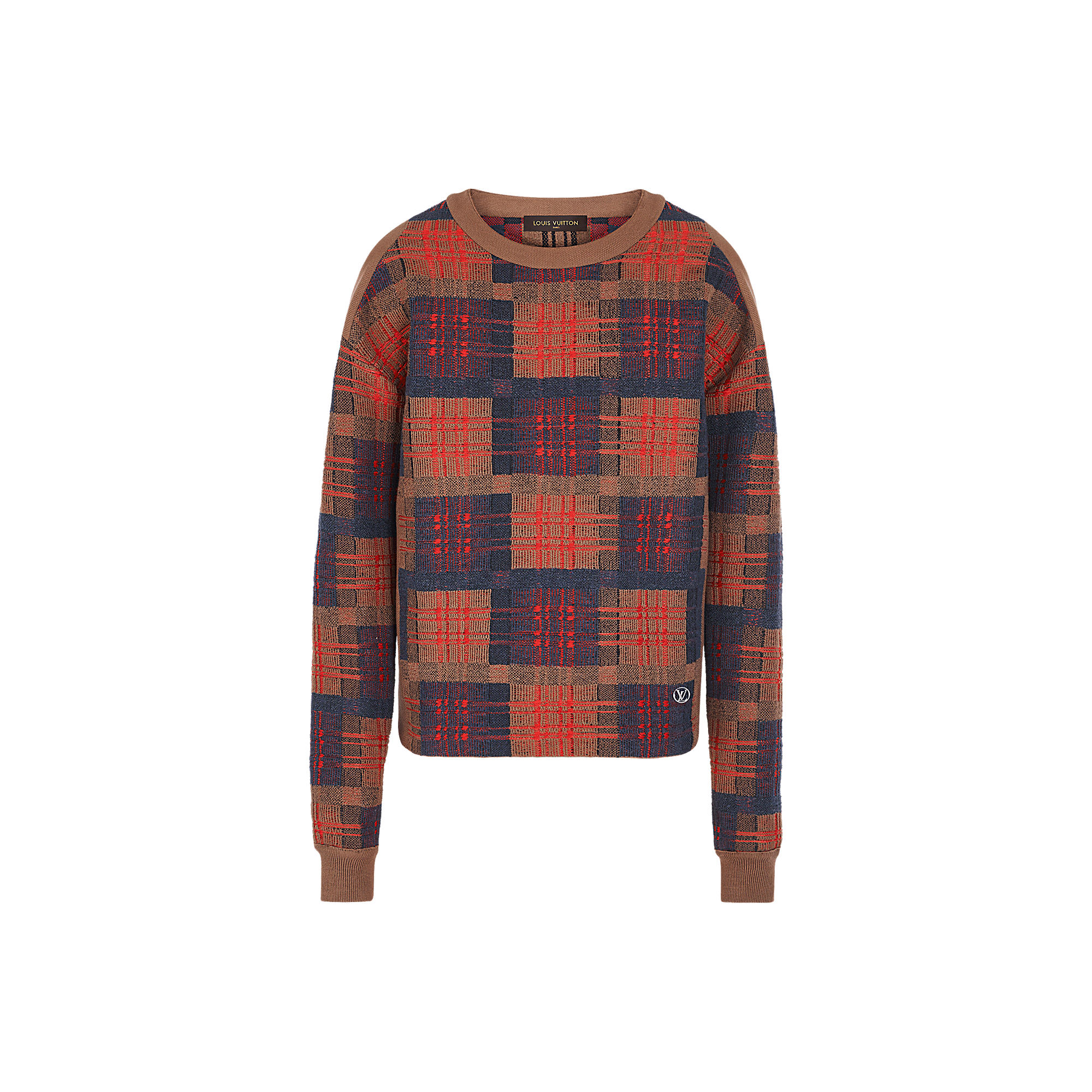 Louis Vuitton Uomo GIROCOLLO PUNK CHECK