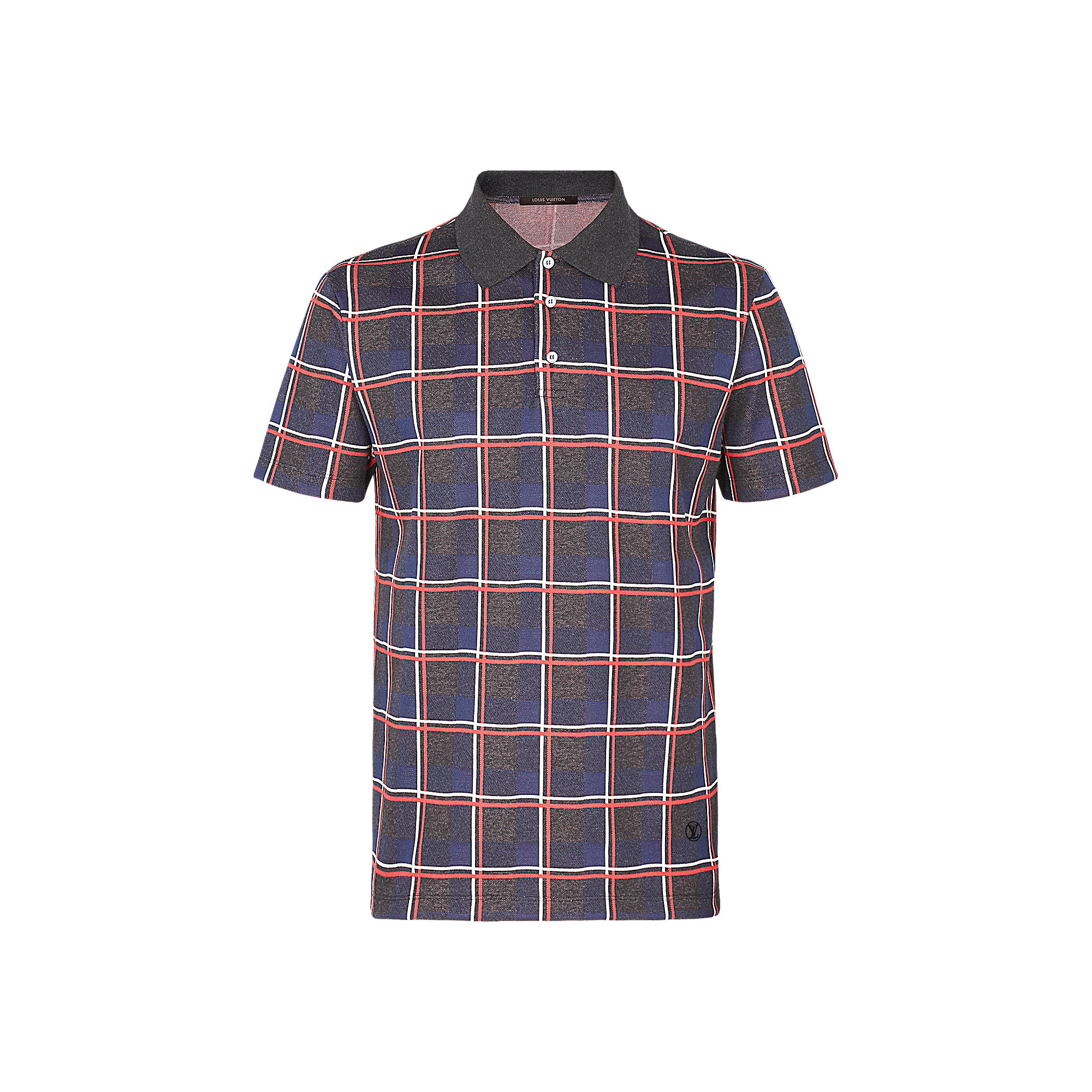 Louis Vuitton Uomo Polo jacquard a quadri